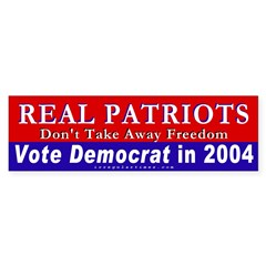 Real Patriots Defend Freedom Sticker