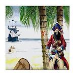 Caribbean Pirates Tile Coaster