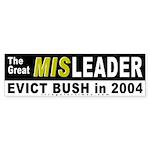 Bush the Great Misleader Bumper Sticker