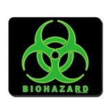BioHazard Green Glow Mousepad (black)