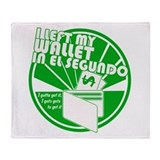 El Segundo Green Throw Blanket