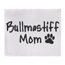 Bullmastiff MOM Throw Blanket