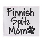 Finnish Spitz MOM Throw Blanket