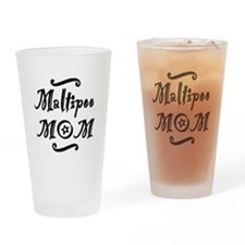 Maltipoo MOM Drinking Glass