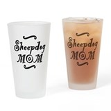 Sheepdog MOM Drinking Glass