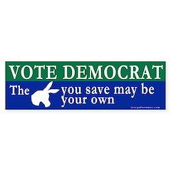 Vote Democrat Bumper Bumper Sticker Gt Kick Ass Democrats