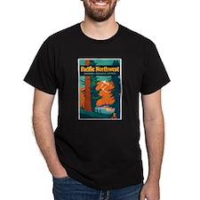 Pacific Northwest Black T-Shirt