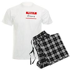 Clare, Name Tag Sticker Pajamas