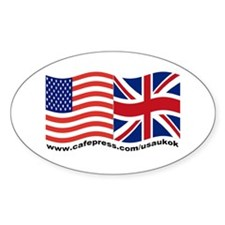 USA UK OK Oval Decal