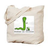 Snakes on Cocaine Tote Bag