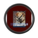 Chain Off 2012 Logo Large Wall Clock