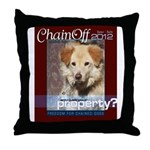 Chain Off 2012 Logo Throw Pillow