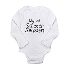Unique Soccer baby Long Sleeve Infant Bodysuit