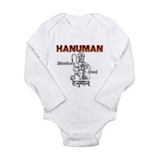 Hindu Hanuman Long Sleeve Infant Bodysuit