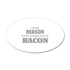 Bacon 38.5 x 24.5 Oval Wall Peel