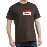 Chet, Name Tag Sticker T-Shirt