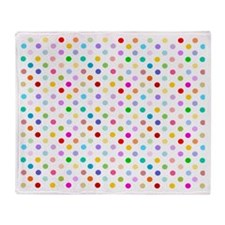 Rainbow Polka Dots Throw Blanket