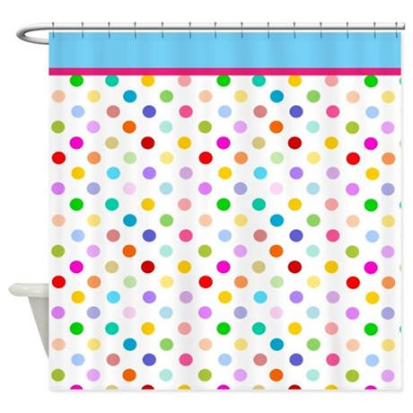 Rainbow Polka Dots Shower Curtain By Inspirationzstore