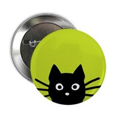 "Black Cat 2.25"" Button (10 pack)"