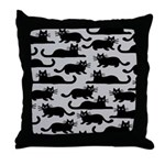 Black Cats Throw Pillow