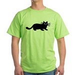 Black Cat Green T-Shirt