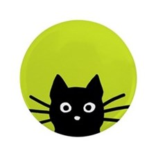 "Black Cat 3.5"" Button"