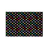 Rainbow Polka Dots Rectangle Magnet