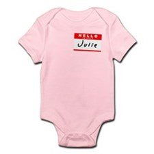 Julie, Name Tag Sticker Infant Bodysuit