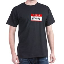 Jules, Name Tag Sticker T-Shirt