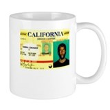 California Drivers License Small Mug