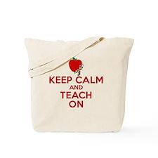Keep Calm w/Autism Ribbon Tote Bag