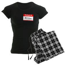 Olive, Name Tag Sticker pajamas