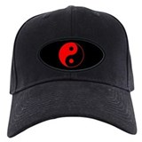 Red Yin Yang Baseball Hat