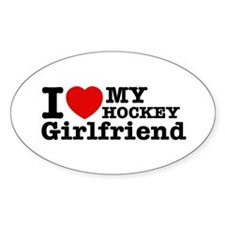 Cool Hockey Girlfriend designs Decal