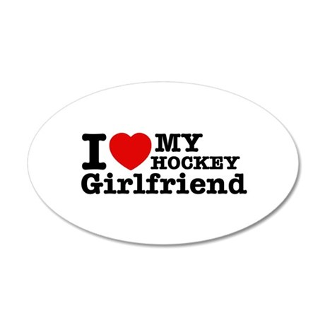 Cool Hockey Girlfriend designs 38.5 x 24.5 Oval Wa