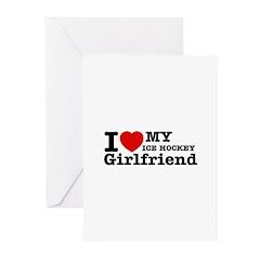 Cool Ice Hockey Girlfriend designs Greeting Cards
