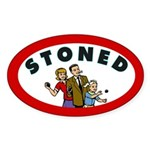 STONED Oval Sticker