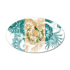 Guatemala Flag 38.5 x 24.5 Oval Wall Peel