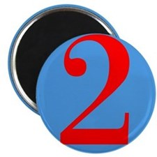 "Number Two Birthday 2.25"" Magnet (100 pack)"