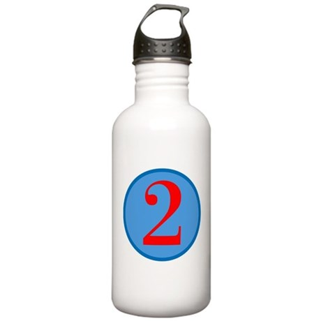 Number Two Birthday Stainless Water Bottle 1.0L
