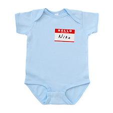 Niko, Name Tag Sticker Infant Bodysuit