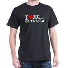 Cool Pole Vault Girlfriend designs T-Shirt