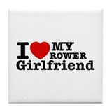 Cool Rower Girlfriend designs Tile Coaster