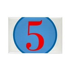 Number Five Birthday Rectangle Magnet