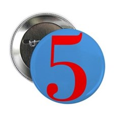 "Number Five Birthday 2.25"" Button (100 pack)"