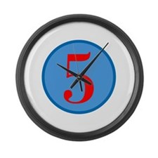 Number Five Birthday Large Wall Clock
