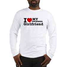 Cool Swimmer Girlfriend designs Long Sleeve T-Shir