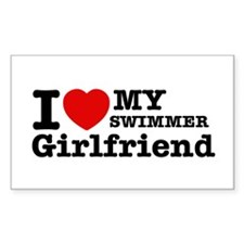 Cool Swimmer Girlfriend designs Decal