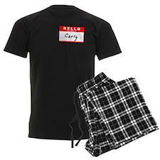 Carly, Name Tag Sticker pajamas