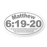 Matthew 6:19-20 Oval Decal